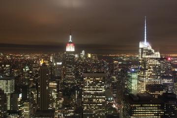Skyline New York at night