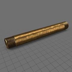 Straight brass pipe (15cm)
