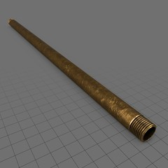Straight brass pipe (50cm)