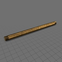 Straight brass pipe (30cm)