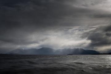 Storms over Lake Te Anau, New Zealand Wall mural