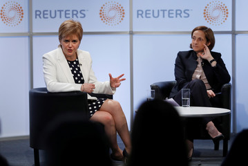 Scotland's First Minister, Nicola Sturgeon, speaks at a Reuters Newsmaker event, hosted by Reuters Global Editor, Alessandra Galloni