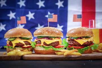 American Burger for 4th of July