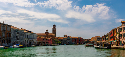 View on Murano, the island of glass in Venice