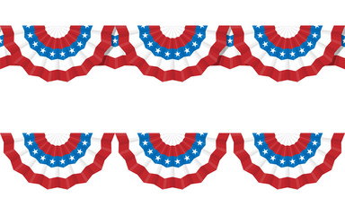 Round bunting decoration, for american Independence day celebrat