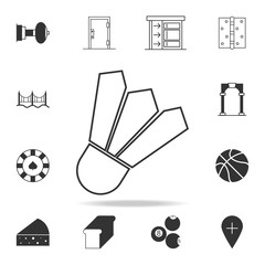 shuttlecock icon. Detailed set of web icons and signs. Premium graphic design. One of the collection icons for websites, web design, mobile app