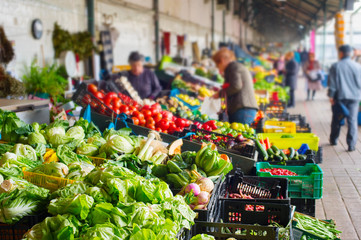 Vegetable Bolhao market Porto, Portugal