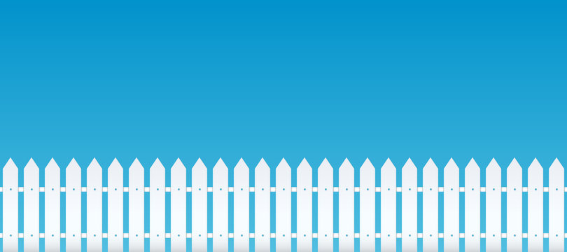 Creative vector illustration of rural wooden fences, pickets isolated on background. Art design. Garden silhouettes wall. Abstract concept graphic element