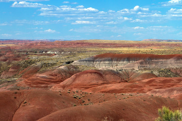 The Painted Desert is a part of Petrified Forest National Park in northwestern Arizona