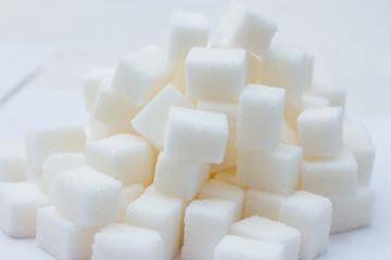 Slide of sugar cubes