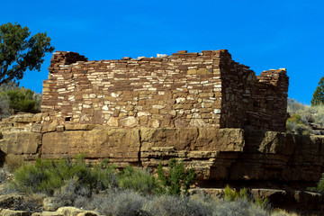 The Box Canyon ruin inside Wupatki National Monument in northern Arizona protects an ancient Native American pueblo site