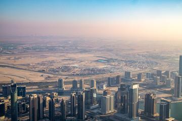 Fantastic skyline of Dubai, UAE.