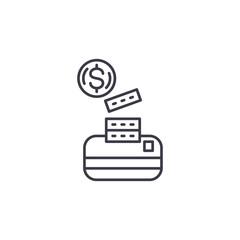 Cash its equivalents linear icon concept. Cash its equivalents line vector sign, symbol, illustration.