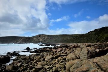 Panoramic ocean beach view.Western Australia