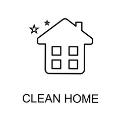 clean home icon. Element of web icon for mobile concept and web apps. Detailed clean home icon can be used for web and mobile. Premium icon