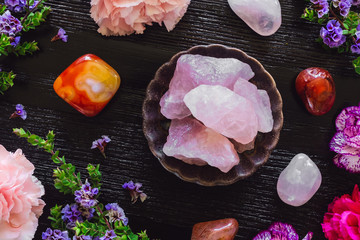 Rose Quartz and Carnelian