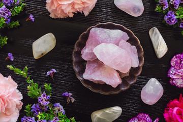 Rose Quartz and Moonstone