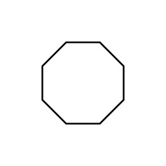 octagon icon. Element of geometric figure for mobile concept and web apps. Thin line octagon icon can be used for web and mobile