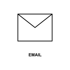 envelope icon. Element of simple web icon with name for mobile concept and web apps. Thin line envelope icon can be used for web and mobile