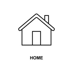 home icon. Element of simple web icon with name for mobile concept and web apps. Thin line home icon can be used for web and mobile