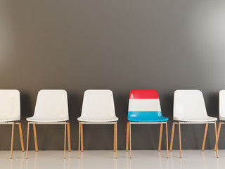 Chair with flag of luxembourg