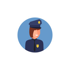 colored avatar of police woman icon. Element of colored people profession icon for mobile concept and web apps. Detailed avatar of police woman icon can be used for web and mobile