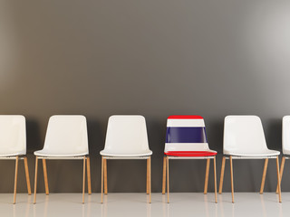 Chair with flag of thailand