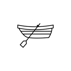 boat with oars icon. Element of travel icon for mobile concept and web apps. Thin line boat with oars icon can be used for web and mobile. Premium icon