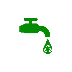 water recycling green icon. Element of nature protection icon for mobile concept and web apps. Isolated water recycling icon can be used for web and mobile