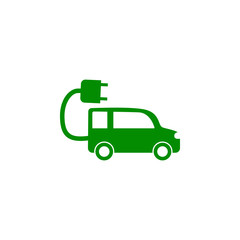Electra car green icon. Element of nature protection icon for mobile concept and web apps. Isolated Electra car icon can be used for web and mobile