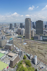 Fototapete - Osaka city skyline, Japan