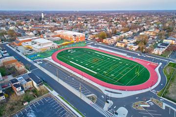 Aerial View Football Field