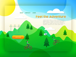 Eco friendly city tourism landing page template
