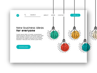 Internet business web app landing page template