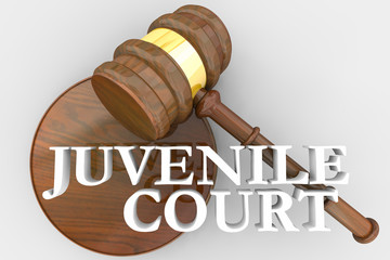 Juvenile Court Judge Gavel Justice System 3d Render Illustration