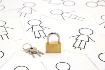 かぎ 人々 セキュリティイメージ パソコン かぎ 人々 セキュリティイメージ