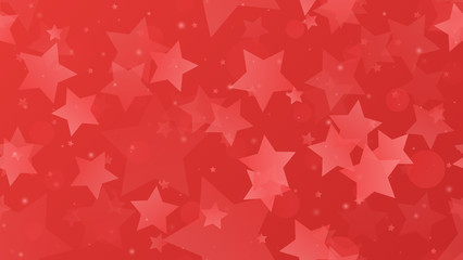 Abstract geometric background. Stars on a red gradient background. Vector illustration