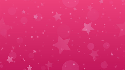 Abstract geometric background. Stars on a pink gradient background. Vector illustration