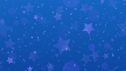 Abstract geometric background. Stars on a blue gradient background. Vector illustration