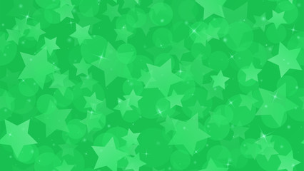 Abstract geometric background. Stars on a geen gradient background. Vector illustration