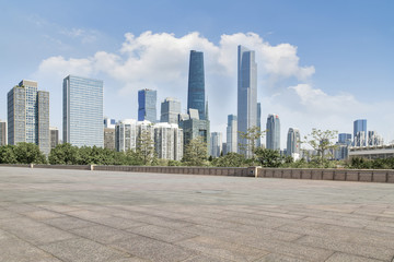 Canvas Prints Abu Dhabi Prospects for the empty square floor tiles of Guangzhou urban complex.