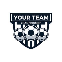 Football Tournament Emblem Logo Icon Vector