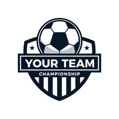 Football Soccer Championship Logo Vector Illustration