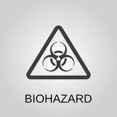 Biohazard icon. Biohazard symbol. Flat design. Stock - Vector illustration