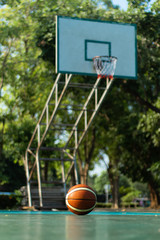 Basketball at the middle of the pitch