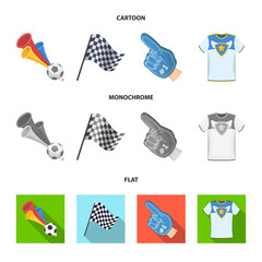 Pipe, uniform and other attributes of the fans.Fans set collection icons in cartoon,flat,monochrome style vector symbol stock illustration web.