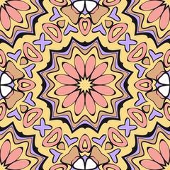 Bright color seamless art pattern. fantasy ornament. vector illustration