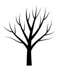 Bare tree vector illustration