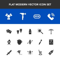 Modern, simple vector icon set with casino, find, ship, sea, drink, white, beauty, flame, bonfire, boat, sport, travel, bottle, flipper, sailboat, teapot, cooler, culture, aroma, gambling, tea icons