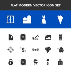 Modern, simple vector icon set with sign, accident, tow, agenda, hygiene, ball, frame, home, picture, sweet, house, reminder, poker, toy, ice, dollar, usd, window, bear, care, fashion, game, bow icons